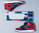 spiderman-keyboard-mechanicalkeyboard-mechkeys-gamingkeyboard-drop-spidermanedit-jordans-jordanair1-custom keyboard
